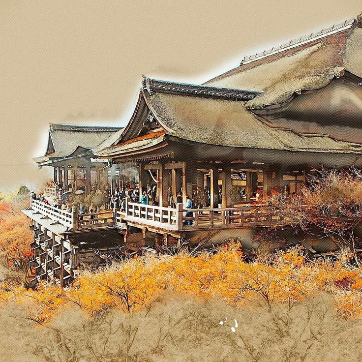 Travel Sketch - Kiyomizu-dera Kyoto Japan UNESCO World Heritage [羽音山 清水寺 京都]  #travel #traveller #traveltheworld #sketch #igtravel #ig_japan #limkimkeong_asia #limkimkeong_japan  #旅行 #日本 #京都 #羽音山 #清水寺 #清水の舞台
