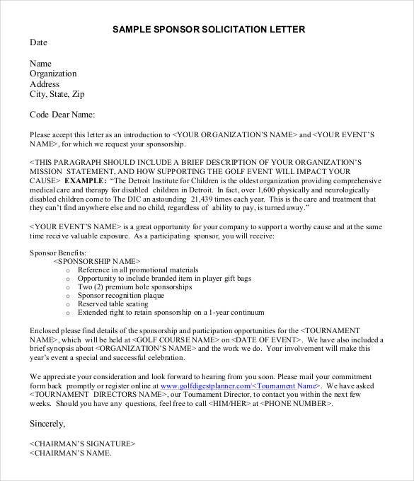 Image result for letter asking for sponsorship for an event