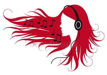 Baixar - Musica de mulher — Ilustração de Stock #4897831