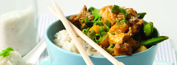 coconut curried pork