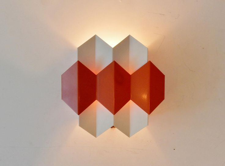 Danish Orange Wall Lights by Bent Karlby for Lyfa, 1970s, Set of 2 1