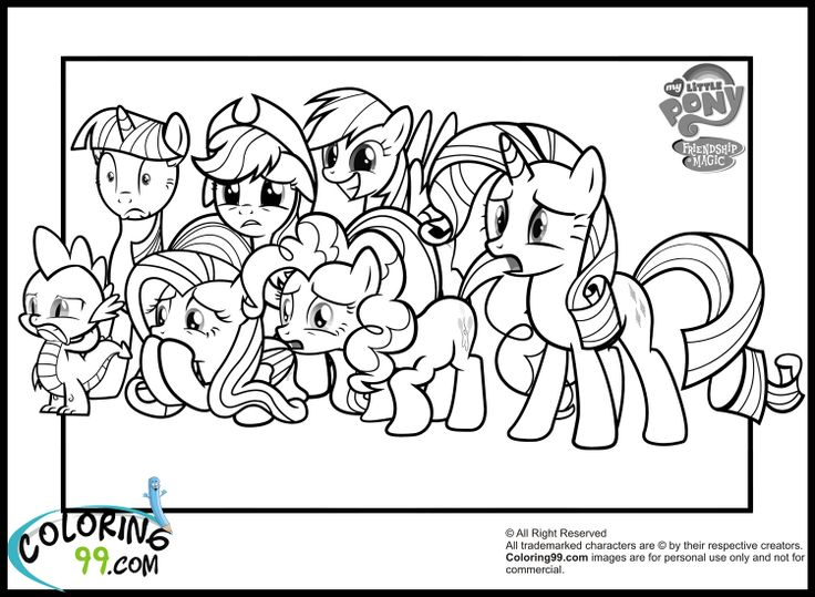 12 best Crafty - Coloring images on Pinterest Coloring books - copy my little pony coloring pages of pinkie pie