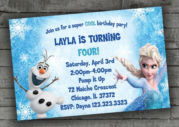 76 best birthday party invitations images on Pinterest Birthday - invitation birthday frozen