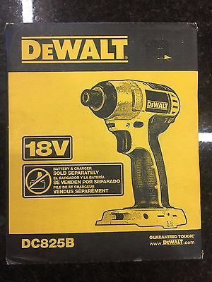tools: Dewalt Dc825b 18V Nicd 1/4 Cordless Impact Drill New In A Box BUY IT NOW ONLY: $62.0