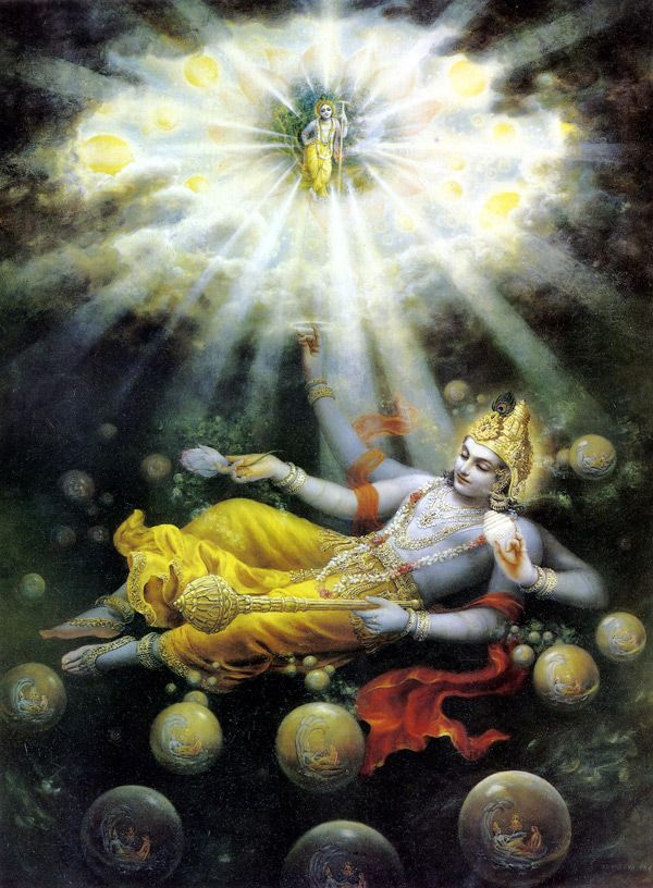 MahaVishnu - i LOVE this image... shows the magnitude of the multiverses & of the Lord oh so poetically.