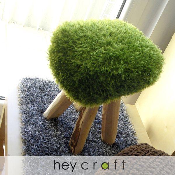 Taboret stołek z drewna shaggy GRAS w hey craft na DaWanda.com