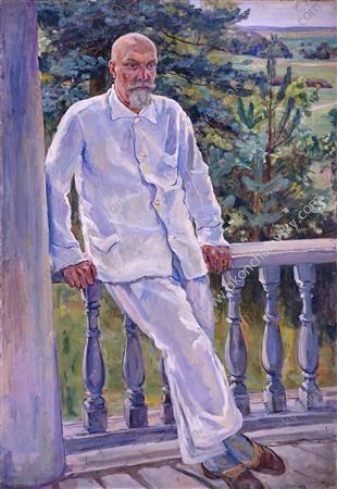 Portrait of a doctor Maxim Petrovich Konchalovsky, 1934  Pyotr Konchalovsky