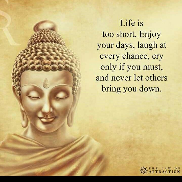 Life is short  Enjoy your days, laugh at every chance, cry only if you must, and never let others bring you down......