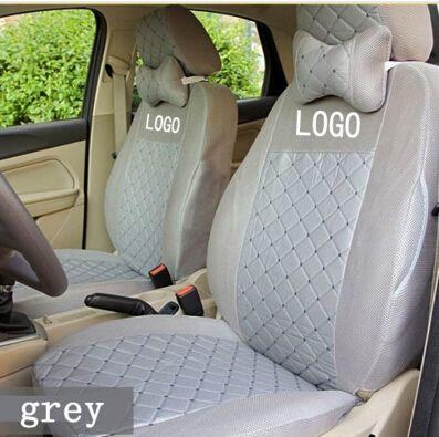 silk breathable Embroidery logo customize Car Seat Cover For Opel Zafira Meriva Ampera Insignia Astra Agila Corsa with supports
