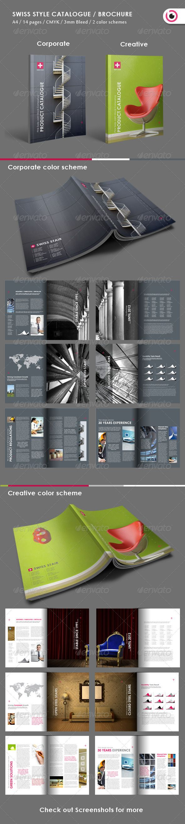 Swiss Style Catalogue/ Brochure   GraphicRiver Item For Sale