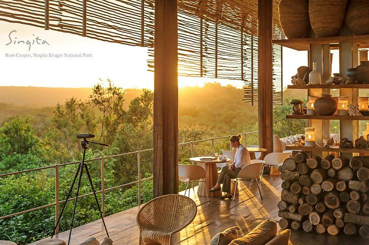 Soaking up the morning sun with a cup of coffee on a perfect morning at Singita Lebombo Lodge