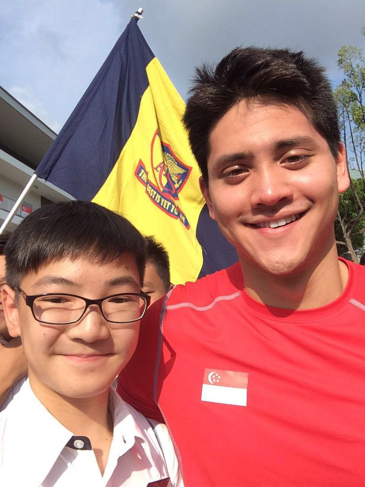 Ethan with Joseph Schooling