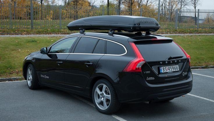 Volvo V60 med Skiguard 760 og Thule takstativ