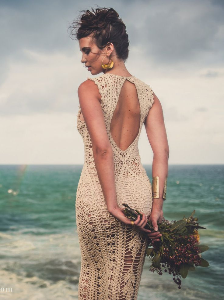 Handmade Crochet Wedding Dress LUNA MENGUANTE от IsaCatepillan
