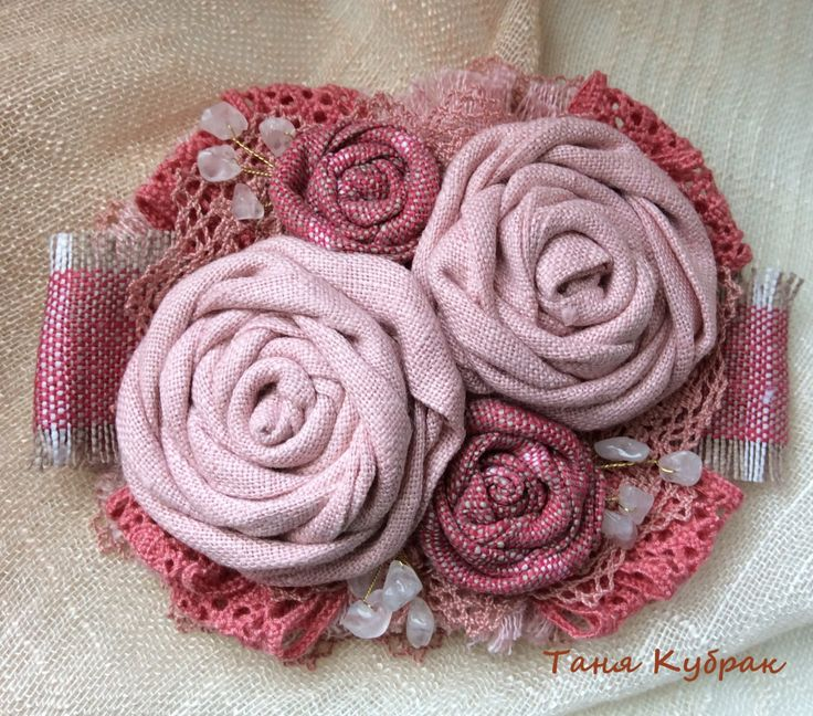 Brooch May rose by squerrelbench on Etsy
