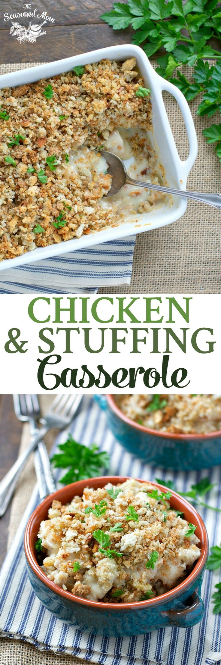 This Chicken and Stuffing Casserole is an easy dinner that has been loved by generations. Prepare the comfort food for a cozy weeknight meal!