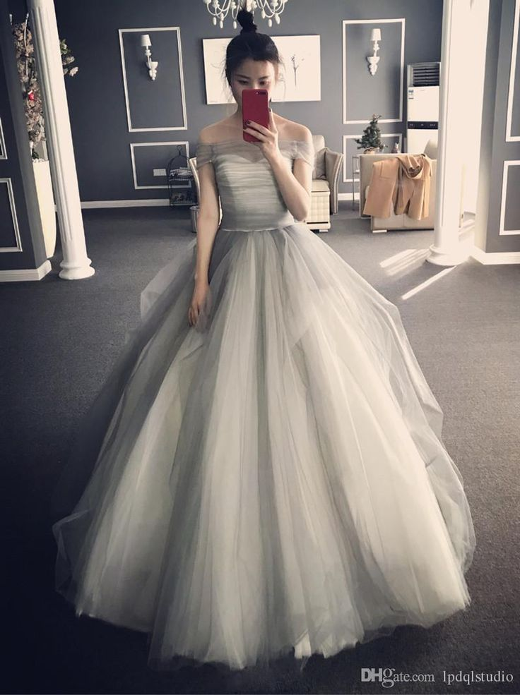 Stunning Ball Gown Prom Dresses Light Gray Pleats Tulle Strapless Evening Dress Lace-up/Zipper Back Formal Dress Prom Dresses Prom Dress Evening Gown Online with $149.0/Piece on Lpdqlstudio's Store | DHgate.com
