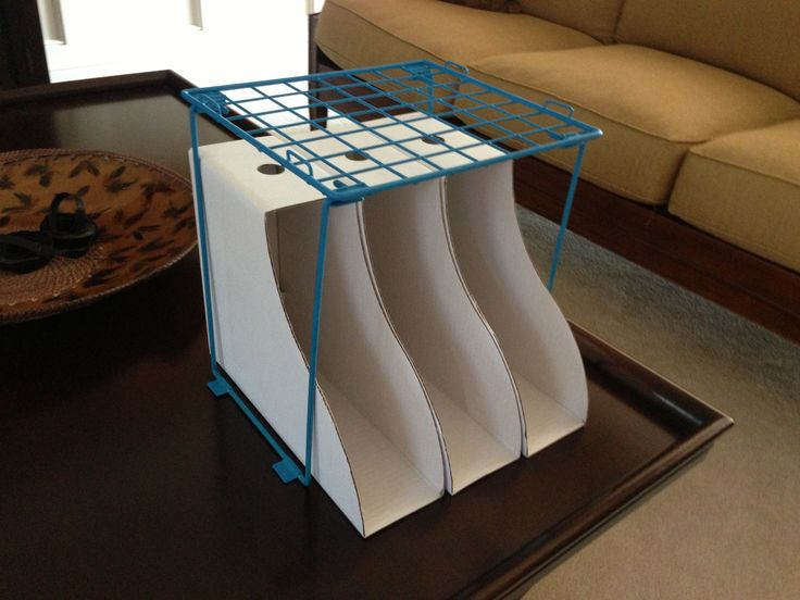 this is a good idea and is efficient with the space, the bottom can be for the client's books and the top shelf can be a place for the tablet
