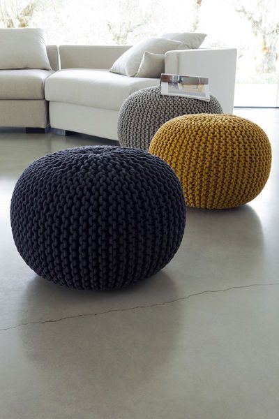 42 best pouf in wool images on pinterest trapillo. Black Bedroom Furniture Sets. Home Design Ideas