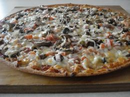 Thin crust whole wheat pizza dough. Just what I need! 4/6 Update: Such a great recipe! Easy to make, easy to use, and super yummy! A keeper for our household!