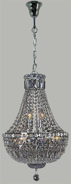 Classique 6 Light 50CM Crystal Pendant (Classique/PD/5L) Lighting Inspiration6 – Bright Lighting