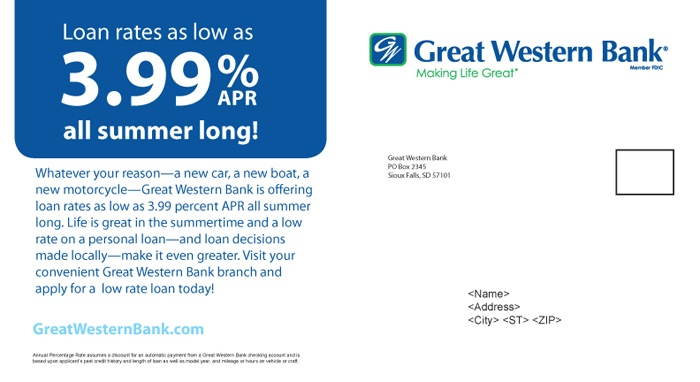 Great Western Bank Summer Promo