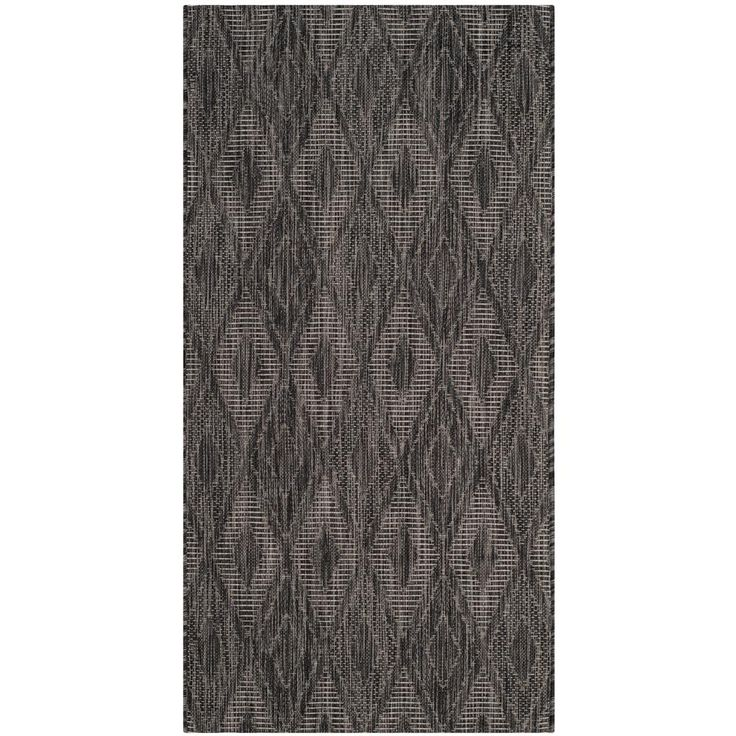 Courtyard Black 2 ft. 7 in. x 5 ft. Indoor/Outdoor Rectangle Area Rug