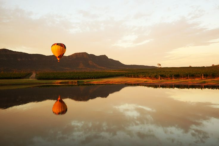 Hot Air Ballooning over the Hunter Valley  #HunterValley #NSW #Australia #WineCountry #Vineyards #Wine #Grapes