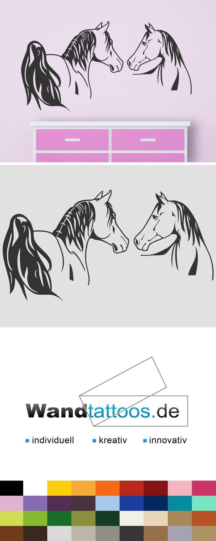Cute Wandtattoo Edle Pferde