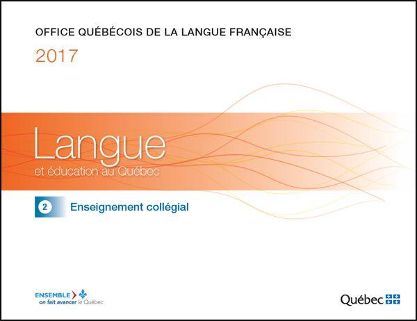 COMMUNIQUE DE PRESSE OFFICE QUÉBÉCOIS DE LA LANGUE FRANÇAISE L'Office québécois de la langue française publie deux études sur la langue et l'éducation au Québec Montréal, le 31mars2017. — Dans le…
