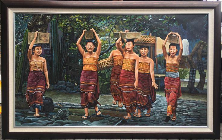 Balinese girl painting @bulan ayu painting gallery Instagram : bulanayupaintinggallery Contact Person: tlp: +62361296904|whatsup: +6289690470730|bbm: 5B917FAC|email: bulanayupainting@gmail.com/bulanayupainting@yahoo.com address: Jl.Raya Batu Bulan no.98,gianyar-Bali