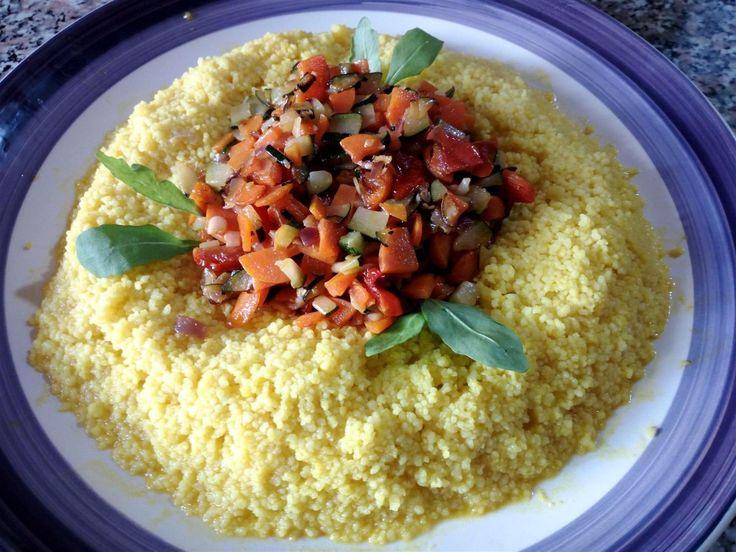 Cuscús vegetariano - Cous cous vegetariano - Cuscús con verduras salteadas - Cous Cous alle verdure saltate - Vegetable couscous recipes easy