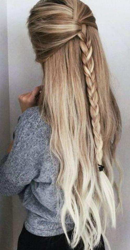 easy braid hair style idea