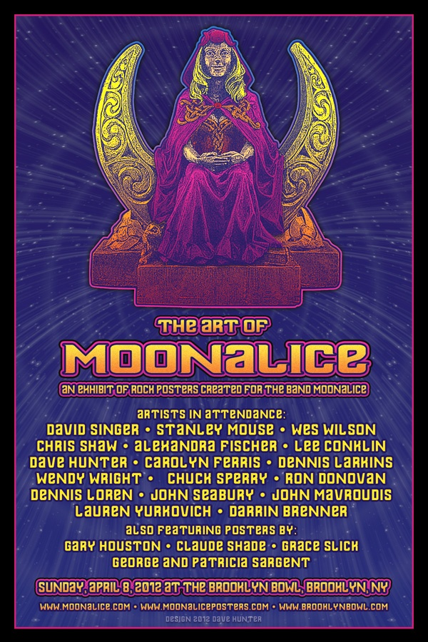 The Art of Moonalice, Brooklyn Bowl April 2012 Postcard Back