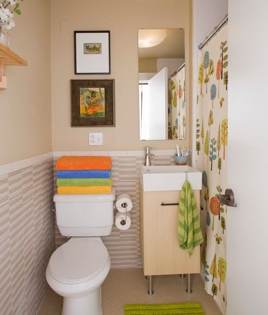 Best Tiny Bathrooms Images On Pinterest Tiny Bathrooms - Cute bathroom ideas for small bathroom ideas