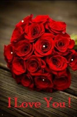 I Love You Red Roses Bouqet