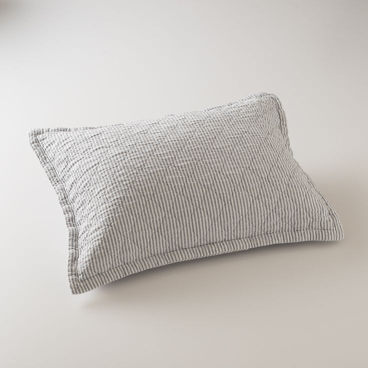 Diamond Ticking Quilted Sham