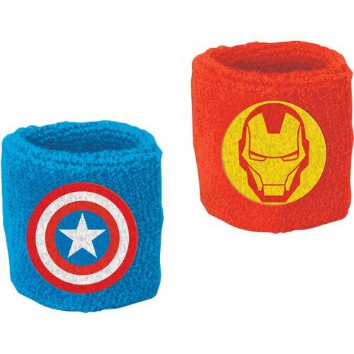 2 Count Avengers Sweat Bands Multicolored @ niftywarehouse.com