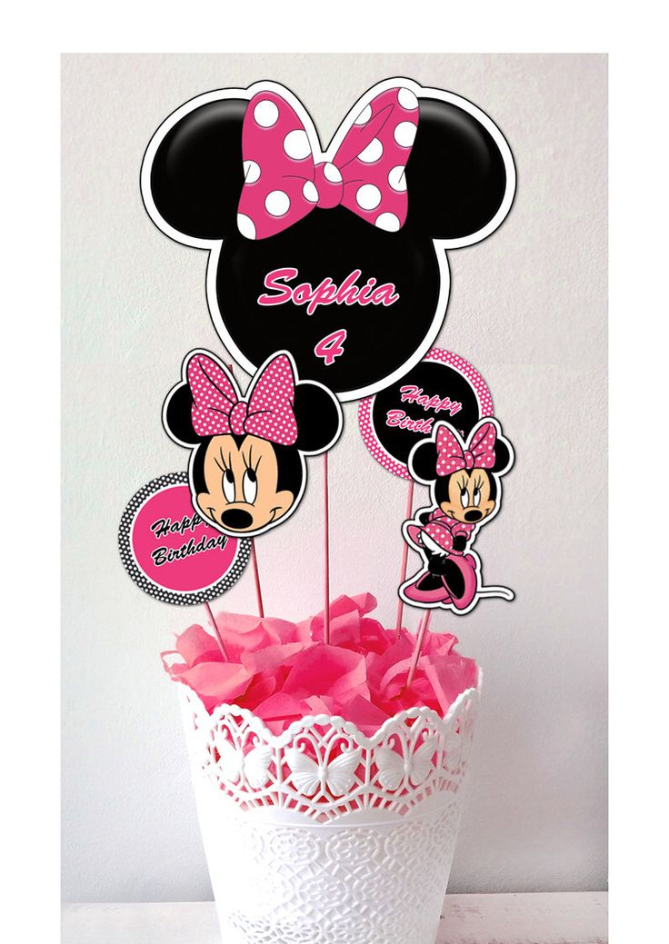 Minnie Mouse Centerpiece, Minnie Mouse Cake Toppers, Minnie Mouse Printable Centerpiece by Printerama on Etsy https://www.etsy.com/listing/262459368/minnie-mouse-centerpiece-minnie-mouse