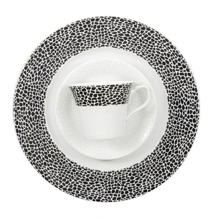 Garnitur do kawy 12 osób 39 el., Venus Black&White (K244)
