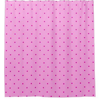 Tiny Pink Polka Dots on Lighter Pink Shower Curtain - shower curtains home decor custom idea personalize bathroom