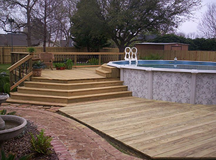 25 best ideas about above ground pool landscaping on for Pool deck landscaping