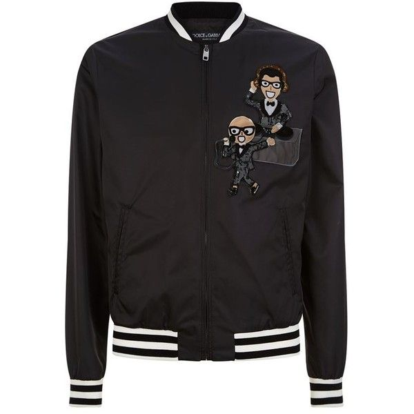 Dolce & Gabbana Lightweight Family Bomber Jacket (4.725 BRL) ❤ liked on Polyvore featuring men's fashion, men's clothing, men's outerwear, men's jackets, letter mens jacket, mens zip jacket, mens lightweight bomber jacket, mens lightweight jacket and men's embroidered bomber jacket
