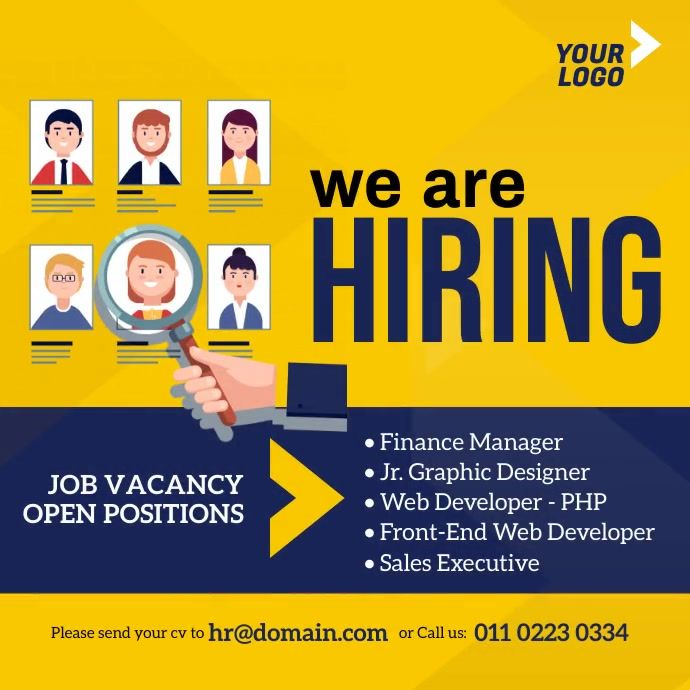 Job Vacancy Ad In 2021 Poster Template Hiring Poster Templates