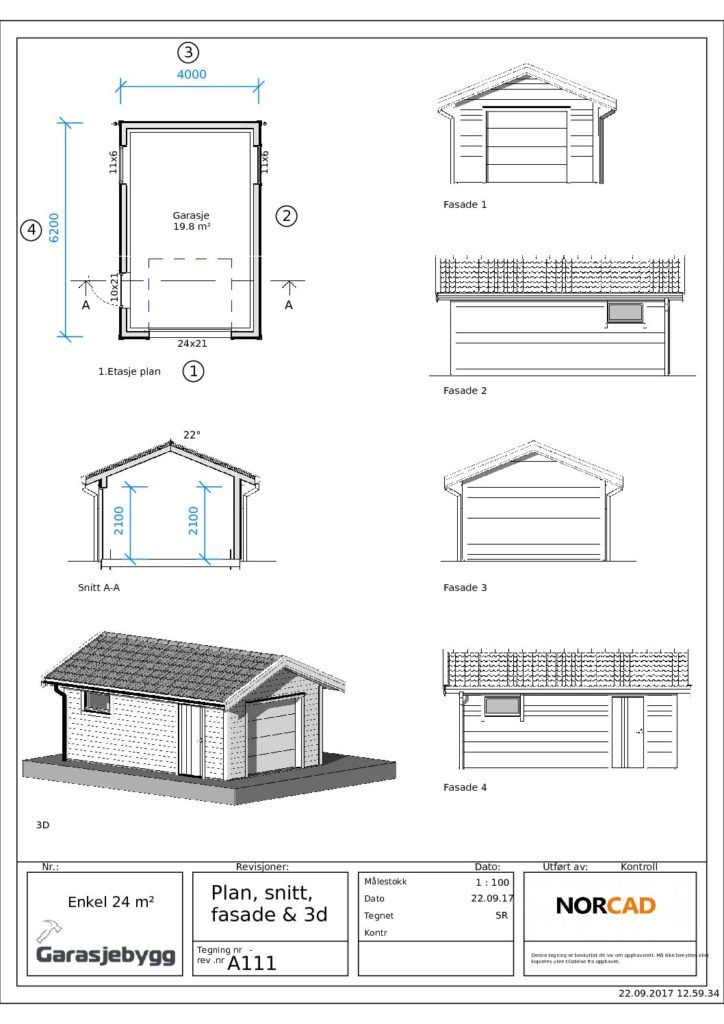 Bilderesultater For Byggetegning Garasje Garasje