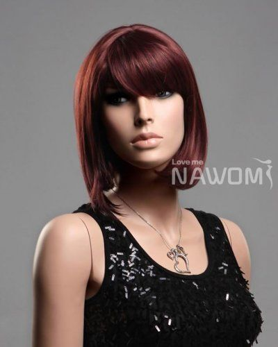 Free Shipping Women BOB Hot Auburn Young Girls Wig S1325-33A : lace wigs,lacefront wigs,women wigs, welcome ti wigs,we sell hair weaving,lace wigs,monofilament wigs,lacefront wigs,women wigs,hair wigs,human hair wigs,african american wigs,hairpieces