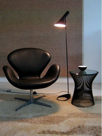 Post ModernDesign Louis Poulsen Arne Jacobsen AJ Floor Lamp Black/White  Metal Stand Light For Living Room/Bedroom LED Bulb Part 59