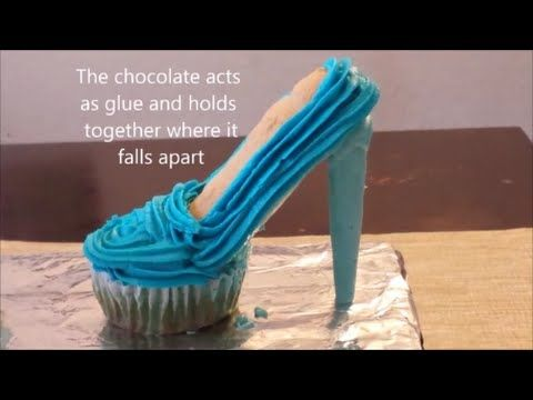 Stiletto Cupcakes! Decorate High Heel Shoe Cupcakes - A Cupcake Addiction How To Tutorial - YouTube