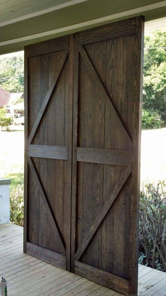 Custom Barn Door Etsy Exterior Barn Doors Barn Style Garage Doors Custom Barn Doors