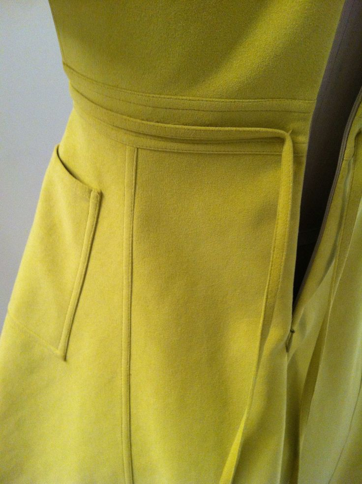 V1404 by Ralph Rucci. Detail shot of back waist area. # ...